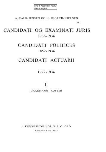 candidati og examinati juris candidati politices - Rosekamp
