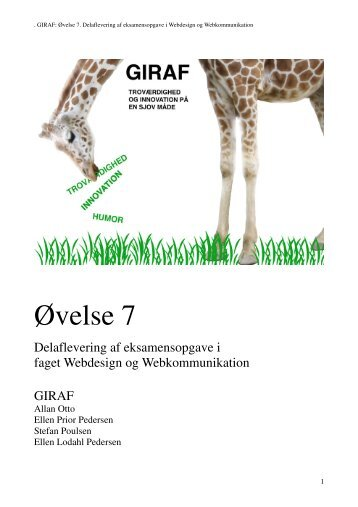 Samlet projektrapport giraf grup... - Borum-P - Grafik og ...