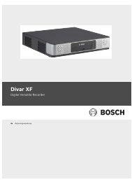 Divar XF - Bosch Security Systems