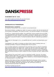 Nyhedsbrevet Dansk Presse nr. 39 - Danske Dagblades Forening
