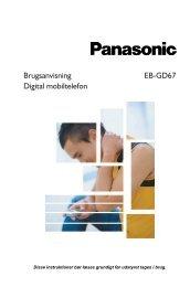 Brugsanvisning EB-GD67 Digital mobiltelefon - Panasonic
