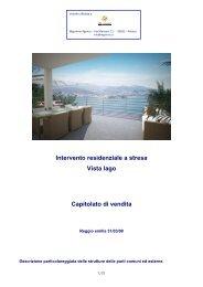 Intervento residenziale a stresa Vista lago Capitolato ... - Immobiliare.it