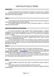 CAPITOLATO DELLE OPERE - Immobiliare.it