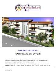 """residenza """"manzoni"""" capitolato dei lavori - Immobiliare.it"""