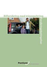 Hent forsikringsbetingelser for trinreguleret bilforsikring - PenSam