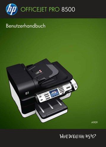 HP Officejet Pro 8500 Printer series User Guide