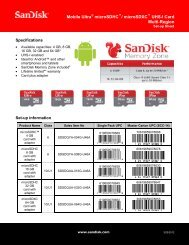 Mobile Ultra microSDHC Setup Sheet