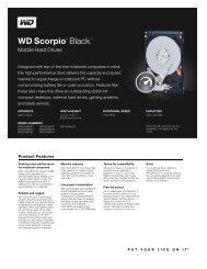 WD Scorpio Black Series Disti Spec Sheet