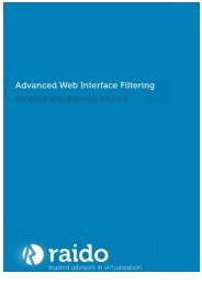 Advanced Web Interface Filtering - Raido