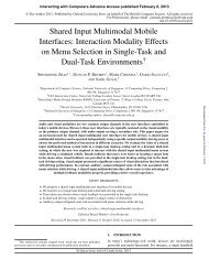 Shared Input Multimodal Mobile Interfaces: Interaction Modality ...