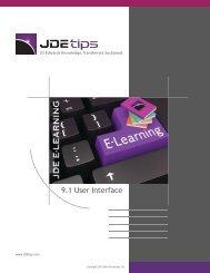 9.1 User Interface - JDEtips.com