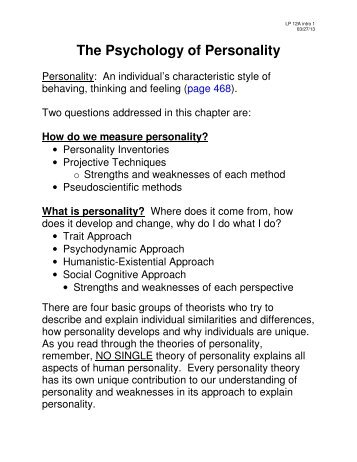 social cognitive approach to personality