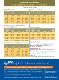 Quick Tax Solutions from the Experts! - Journal of Accountancy
