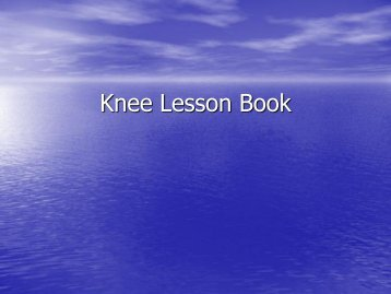 Knee Lesson Book