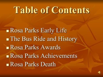 Rosa Parks Early Life The Bus Ride and History Rosa Parks Awards ...