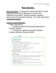 Mood disorders Mood disorders: A category of mental disorders in ...