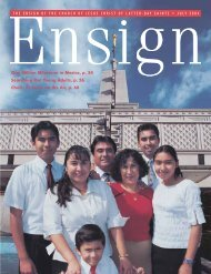 July 2004 Ensign - The Church of Jesus Christ of Latter-day Saints