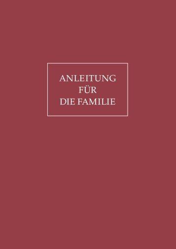 ANLEITUNG FÜR DIE FAMILIE - Kirche Jesu Christi der Heiligen ...