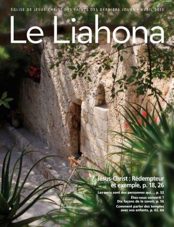 Avril 2013 Le Liahona