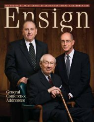 Ensign, Nov. 2007 - The Church of Jesus Christ of Latter-day Saints