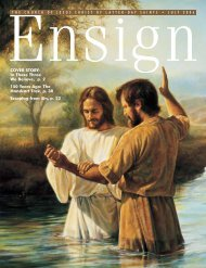 COVER STORY - The Church of Jesus Christ of Latter-day Saints