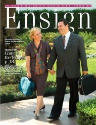 October 2007 Ensign - The Church of Jesus Christ of Latter-day Saints