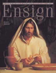 May 2004 Ensign - The Church of Jesus Christ of Latter-day Saints