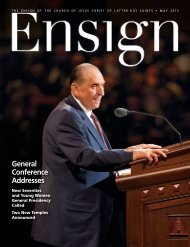 May 2013 Ensign - The Church of Jesus Christ of Latter-day Saints