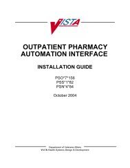 outpatient pharmacy automation interface - US Department of ...