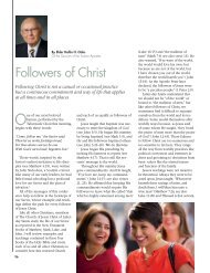 Followers of Christ - The Church of Jesus Christ of Latter-day Saints