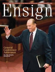 November 2008 Ensign - The Church of Jesus Christ of Latter-day ...