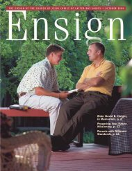October 2004 Ensign - The Church of Jesus Christ of Latter-day Saints