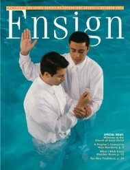 October 2006 Ensign - The Church of Jesus Christ of Latter-day Saints