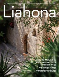 Liahona, Abril 2013 - The Church of Jesus Christ of Latter-day Saints