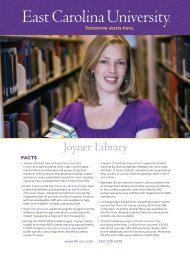 Joyner Library Fact Sheet - East Carolina University