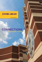 Joyner Annual Report 2007 - East Carolina University