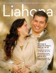 September 2011 Liahona - The Church of Jesus Christ of Latter-day ...