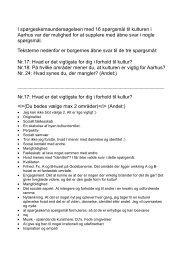Du kan se de åbne svar i denne pdf. Åbner nyt vindue. - Aarhus.dk