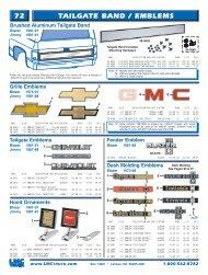72 tailgate band / emblems - LMC Truck