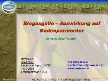 Biogas 09 Referat Unterfrauner - ÖKL