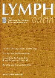 10 Jahre Österreichische Lymph-Liga Vorträge der ...