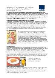 Wesentliche Grundlagen und Einfluss der Ernährung beim ...