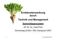 Erntekostensenkung durch Technik und Management