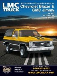 Chevrolet Blazer & GMC Jimmy Chevrolet Blazer ... - LMC Truck