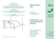 ÖKL-Kolloquium 2009 Die Maschinen – der Hauptkostenfaktor im ...