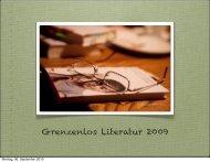 Grenzenlos Literatur 2009