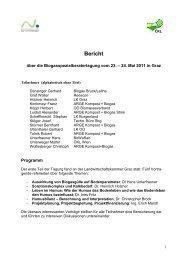 Bericht Biogasberatertagung Mai 2011 - ÖKL