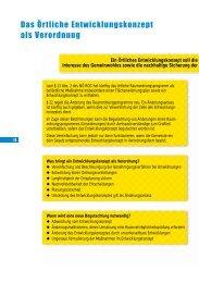 Das Örtliche Entwicklungskonzept als Verordnung