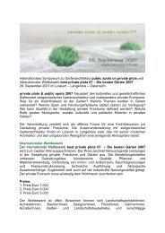 Internationaler Preis best private plots 07 – Der beste Garten 2007