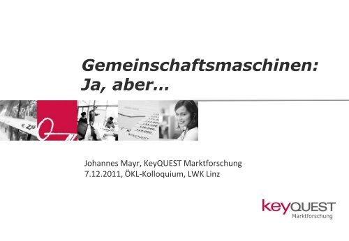 Kolloquium 2011 Mayr